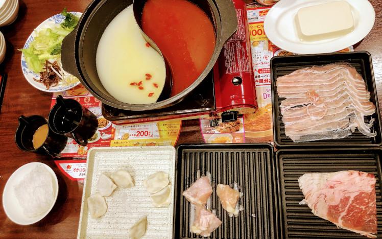 火鍋しゃぶしゃぶ食べ放題の基本セット
