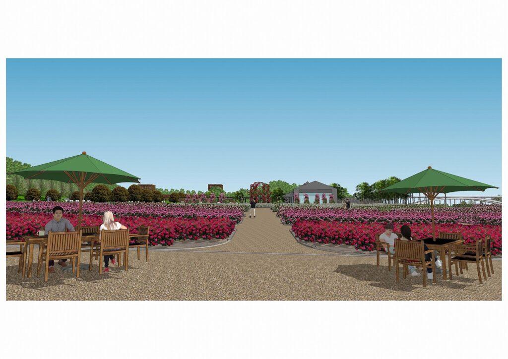 花フェスタ記念公園の西ゲート