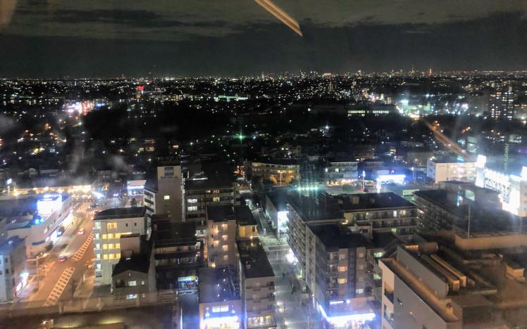 モザイクモール港北の観覧車からの夜景
